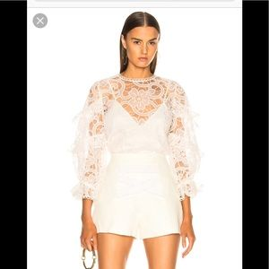 Alexis Areill 3/4 Sleeve Lace Top S